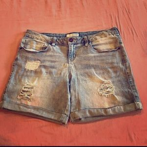 Guess Distressed Stretch Jean Shorts